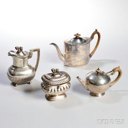 Four Pieces of Assorted Sterling Silver Teaware