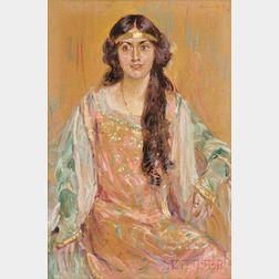 Robert Lewis Reid (American, 1862-1929)      Portrait of Margaret Singer