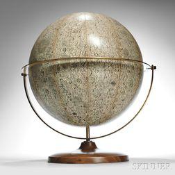 Denoyer-Geppert 16-inch Visual Relief Lunar Globe