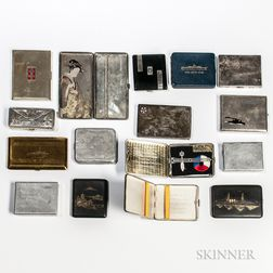 Group of Naval-related Cigarette Cases
