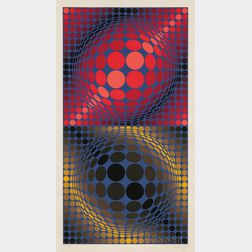 Victor Vasarely (Hungarian/French, 1906-1997)      Hiouz