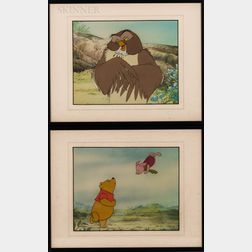 Walt Disney Studios, 20th Century      Two Animation Cels: Winnie-the-Pooh and Piglet