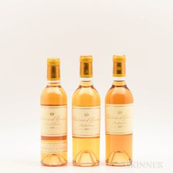 Chateau dYquem, 3 demi bottles