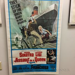 Assault on a Queen and Tony Rome Movie Posters.     Estimate $20-200