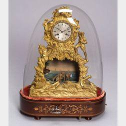 Louis Phillipe Gilt Bronze Automaton Mantel Clock