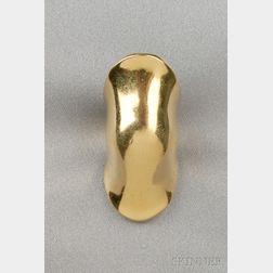 18kt Gold Knuckle Ring, Robert Lee Morris