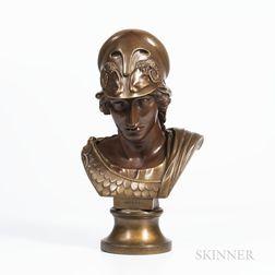 Wedgwood Bronzed Black Basalt Bust of Minerva