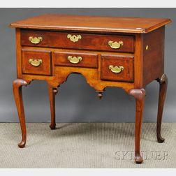 Queen Anne Walnut and Burl Veneer Dressing Table