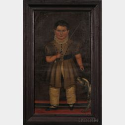 Joseph Goodhue Chandler (Massachusetts and New York, 1813-1884) Portrait of a Boy with His Dog and Riding Crop, with Portraits of Hi...