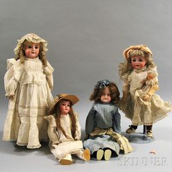 Four Bisque Dolls