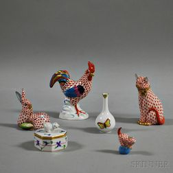 Six Pieces of Herend Porcelain