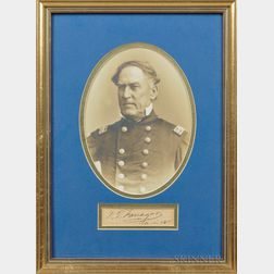 Framed Image and Autograph of Admiral David G. Farragut Presented by Loyall Farragut