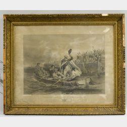 Framed G.P. Putnam Print Washington's Adieu to his Generals