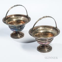 Two Tiffany & Co. Sterling Silver-gilt Baskets