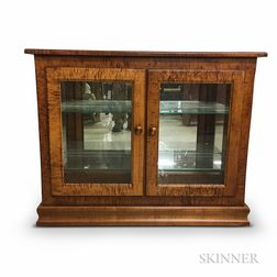 Glazed Tiger Maple Two-door Cabinet