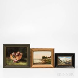 Three Small Framed Paintings