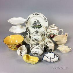 Fifteen Pieces of English Ceramics
