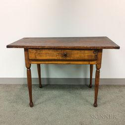 Country Maple and Pine One-drawer Tavern Table