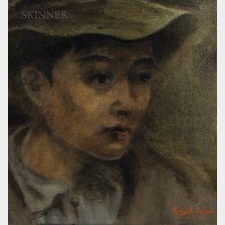 Gonzalo Ariza (Colombian, 1912-1995)    Head of a Boy
