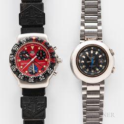 Tissot T12 Super Compressor and a Tag Heuer Formula 1 Wristwatch