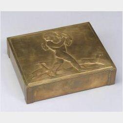 Art Deco Brass Box