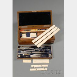 Architect Cased Set of Drafting Instruments