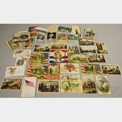 Group of Mostly Patriotic and Historic American-theme Postcards