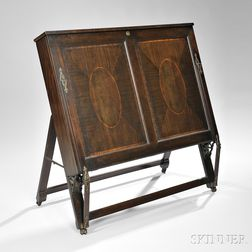 Georgian-style Mahogany Portfolio Cabinet