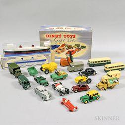 Eighteen Dinky Toys Die-cast Metal Vehicles.     Estimate $250-350