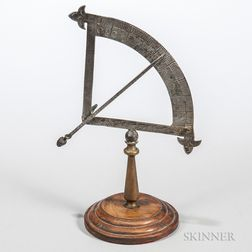 19th Century Engraved Steel Quadrant