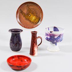 Five Brother Thomas Bezanson Pottery Items