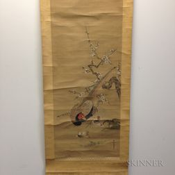 Hanging Scroll Depicting a Pair of Pheasants