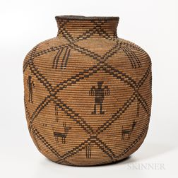 Apache Pictorial Basketry Olla
