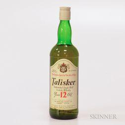 Talisker 12 Years Old, 1 750ml bottle