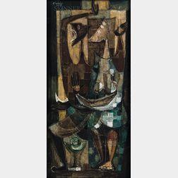 David Manzur (Colombian, b. 1929)      Abstract Figures