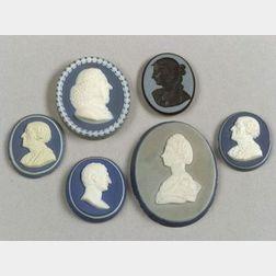 Six Assorted Wedgwood & Bentley Portrait Medallions