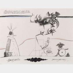 Saul Steinberg (American, 1914-1999)  Sam's Art