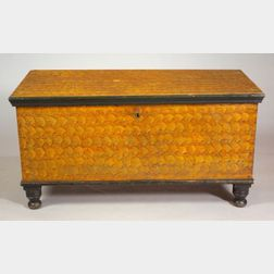 Fancy Painted Six-board Chest