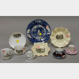 Eleven Pieces of Late Victorian and Early 20th Century Souvenir China