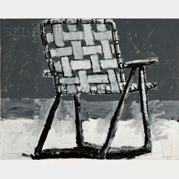 Aaron Fink  (American, b. 1955)      The Beach Chair.
