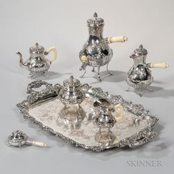 Five-piece French .950 Silver Tea and Coffee Service