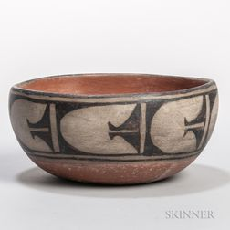 Santo Domingo Painted Pottery Bowl