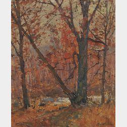 Emile Albert Gruppé (American, 1896-1978)      Autumn Scene, Probably Woodstock, New York