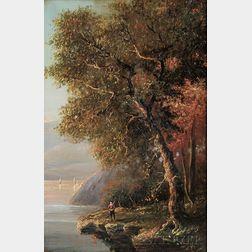 Régis François Gignoux (French, 1816-1882)      Hudson River Scene in Autumn