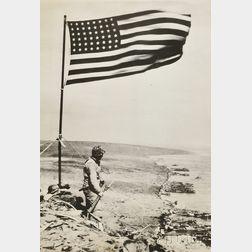 Three World War II Photographs:      Obie Newcomb (American, 20th Century), The Marines Go In  , Tarawa, Gilbert Islands