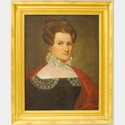American School, 19th Century       Portrait of Jerusha Spencer, Hartford, Connecticut.