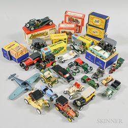 Thirty-nine Rami, Solido, Corgi, and Lesney Vehicles.     Estimate $300-500