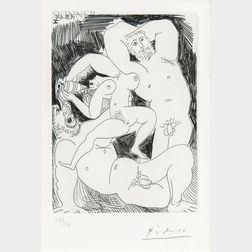 Pablo Picasso (Spanish, 1881-1973)      Pourvu qu'on ait l'ivresse...