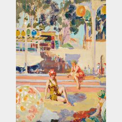 William Henry Clapp (American, 1879-1954)      Neptune Beach, #2