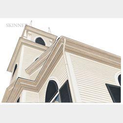 Sam Cady (American, b. 1943)      Country Church, New England